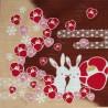 Furoshiki 50x50 - Motifs de lapins des 4 saisons