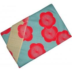 Furoshiki 104x104 - reversible - Plum tree flowers