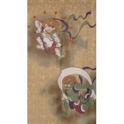 Polyester Noren - Fûjin and Raijin Gods