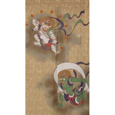 Noren en polyester - Dieux Fûjin et Raijin