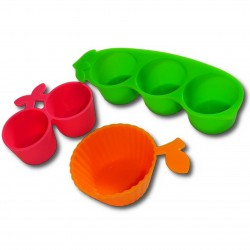 Bento accessories - Okazu cups Veggie - 3pcs