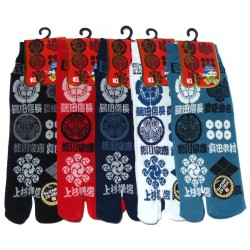 Tabi socks Size 39 to 43 - Kamon prints