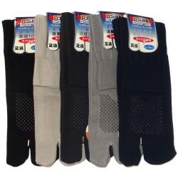 Chaussettes Tabi mi-mollet - Du 38 au 41 - Antidérapants couleur unie