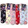 Crew Tabi socks - Size 35 to 39 - Morning glories prints