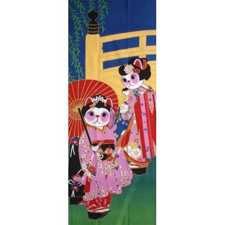 Tenugui Collection Fuku Neko - Maiko