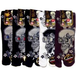 Short crew Tabi socks - Size 39 to 43 - Skulls prints
