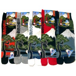 Chaussettes tabi - Du 39 au 43 - Motifs Miho no Matsubara