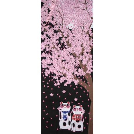 Tenugui Fuku Neko' Collection - Yozakura