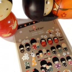Stickers Kokeshi & Co