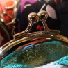Manekineko Lucky cat coins holder pouch - Silk and chirimen