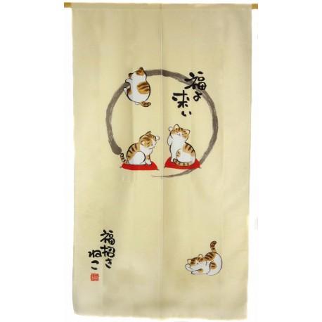 Noren en polyester - Maneki neko