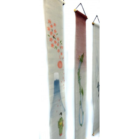 Slim hanging tapestry - Tapisserie étroite suspendue - Yoake (dawn)