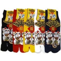 Tabi socks Size 39 to 43 - Maneki Neko