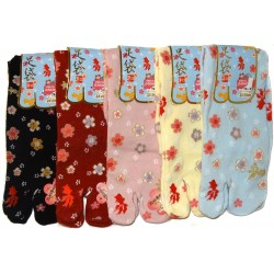 Crew Tabi socks - Size 35 to 39 - Kingyo and sakura