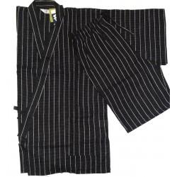 Jinbei 84 black  - M size - Cotton and Linen