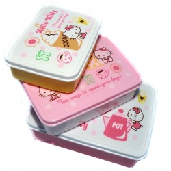 Nesting bento Lunch boxes - Hello Kitty Biscuit