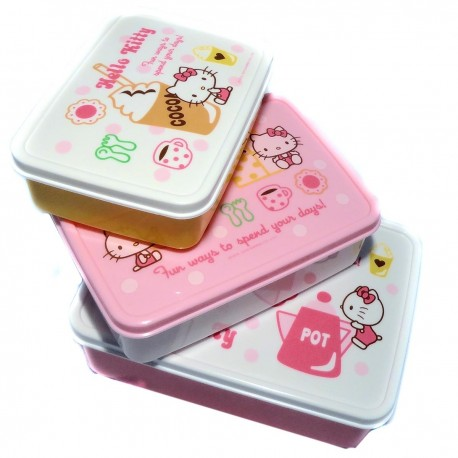 Nesting bento Lunch box - Hello Kitty Biscuit