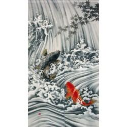 Polyester Noren - Koi no Taki nobori