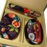 Set cadeau bento - Yuzen - Ensemble boite à bento japonaise