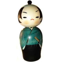 Poupée Kokeshi - Samouraï