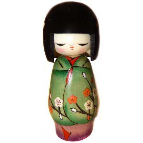 Kokeshi doll - Ume Matsuri - Wooden Japanese doll