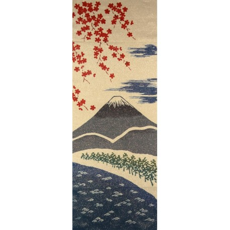 Tenugui - reversible - Mount Fuji in spring