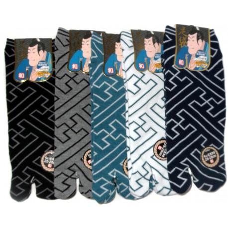 Chaussettes japonaises Tabi - Du 39 au 43 - Fusuma Gara - chaussettes orteils