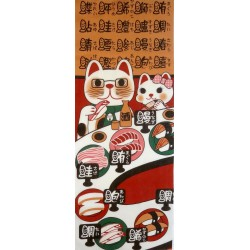Tenugui Collection Fuku Neko - KaitenZushi