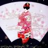 Furoshiki 50x50 - Maiko. Japanese furoshiki cloth.