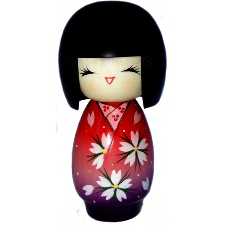 Kokeshi doll - Sakura fragrances - Japanese wood doll