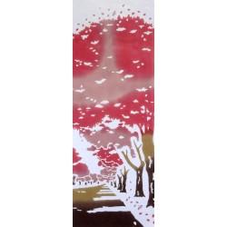 Tenugui réversible - Sakura Nami Ki
