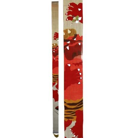 Décoration japonaise : tapisserie étroite suspendue - Issun Bôshi