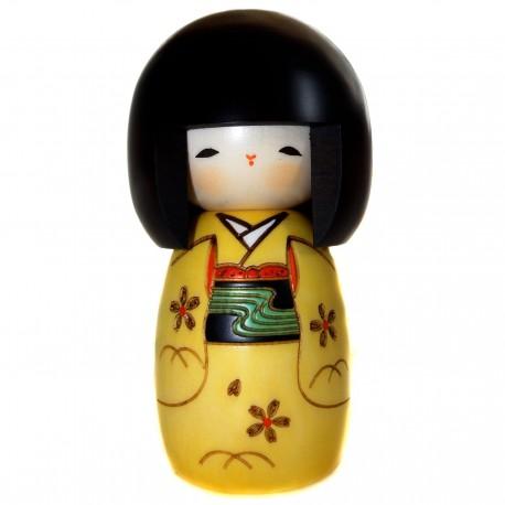 Poupée Kokeshi - Osanago. Poupée japonaise traditionnelle en bois.
