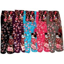 Chaussettes Tabi - Du 39 au 43 - Motifs Kawaii Maiko