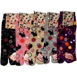 Tabi socks - Size 35 to 39 - Kittens prints