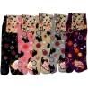 Tabi socks - Size 35 to 39 - Kittens prints. Split toes Japanese socks