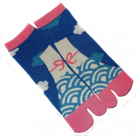 Chaussettes japonaises Tabi - Du 35 au 39 - Mont Fuji. Chaussettes à orteils séparés.