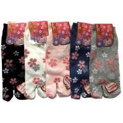 Tabi socks - Size 35 to 39 - Sakura prints