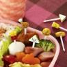 Piques décoratifs - Fast food. Accessoires pour bento et boites repas.