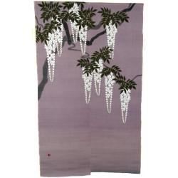 Noren parme en lin - Shirafuji