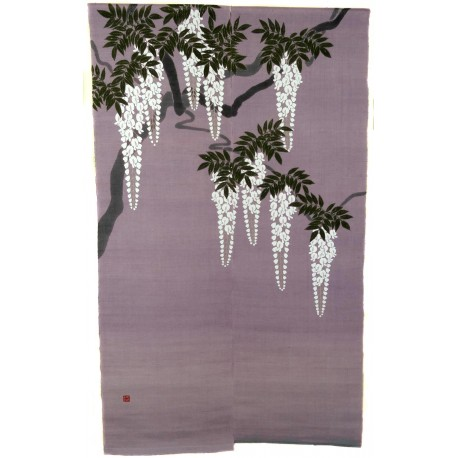 Linen parma Noren - Shirafuji. Japanese curtains