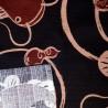 Furoshiki 50x50 marron - Namazu. Tissu japonais emballage.