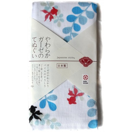 Gauze towel 90x34 cm tenugui - Kingyo