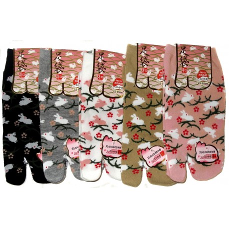 Tabi socks - Size 35 to 39 - Kusa Usagi. Japanese split toe socks
