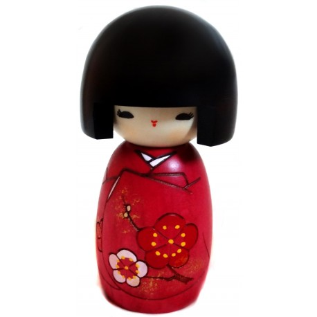 Kokeshi doll - Okappa san. Traditional hand made Japanese wood dolls.