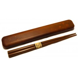 Chopsticks with box set - Togi Mokume Sakura