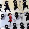 Stickers Ninja. Autocollants scrapbooking