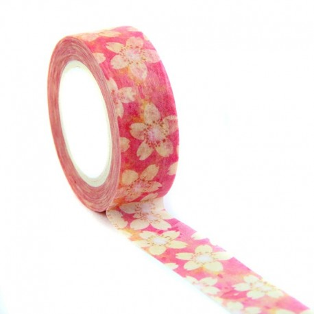 Ruban adhésif Sakura. Masking tape fleurs de cerisiers.