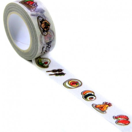 Ruban adhésif masking tape Sushi & Co
