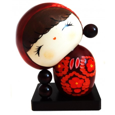 Kokeshi doll - Sato no Ko. Japanese traditional wooden dolls.